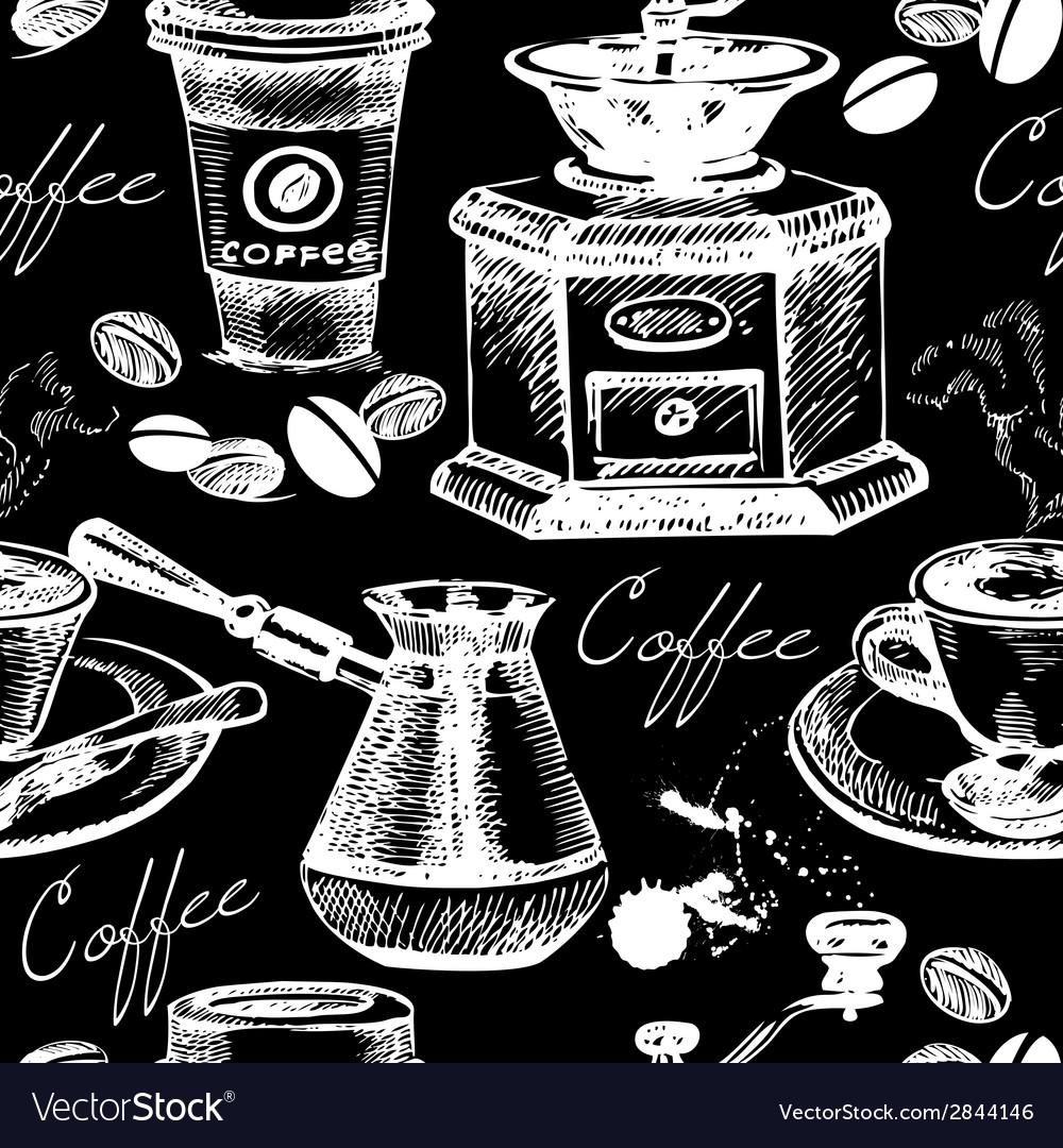 Vintage coffee seamless pattern