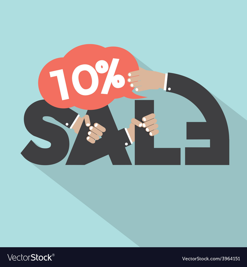 10 Percent Discount Typography Design