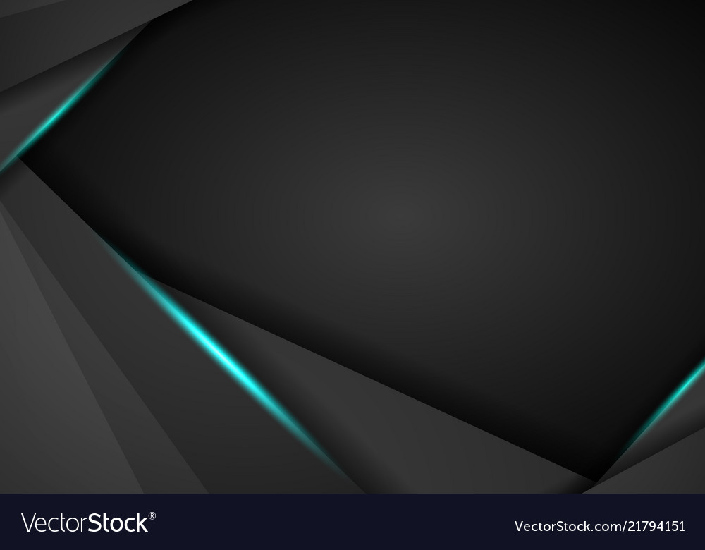 Abstract black with blue frame template layout
