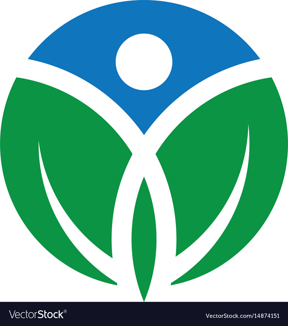 Circle human leaf logo image image vector image