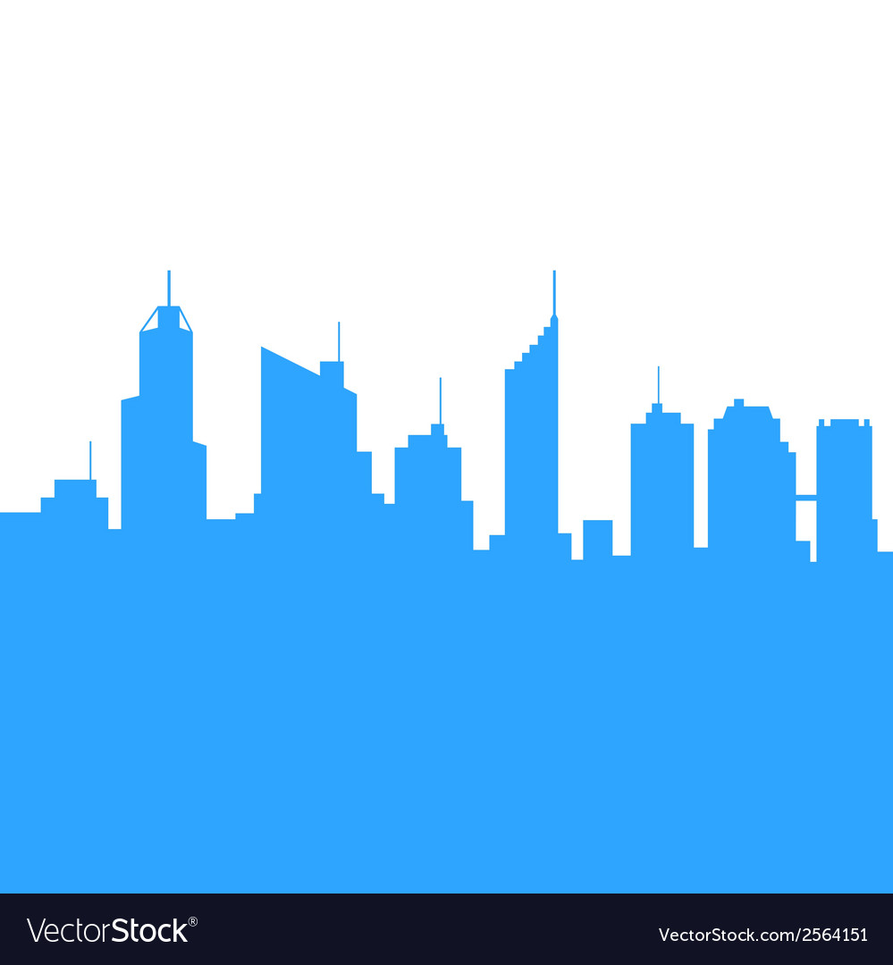 City Skylines Silhouette Background