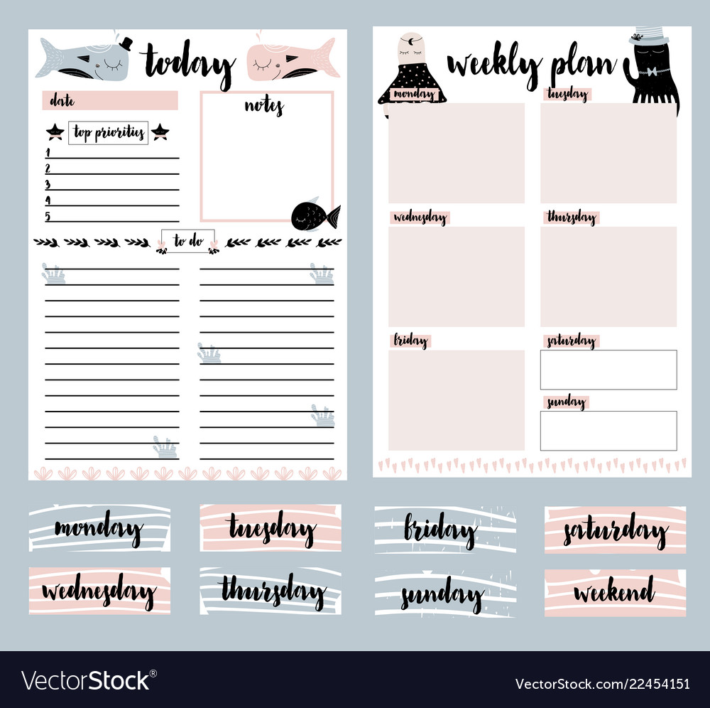 photograph relating to Daily Planner referred to as Clip artwork assortment of every day planner weekly