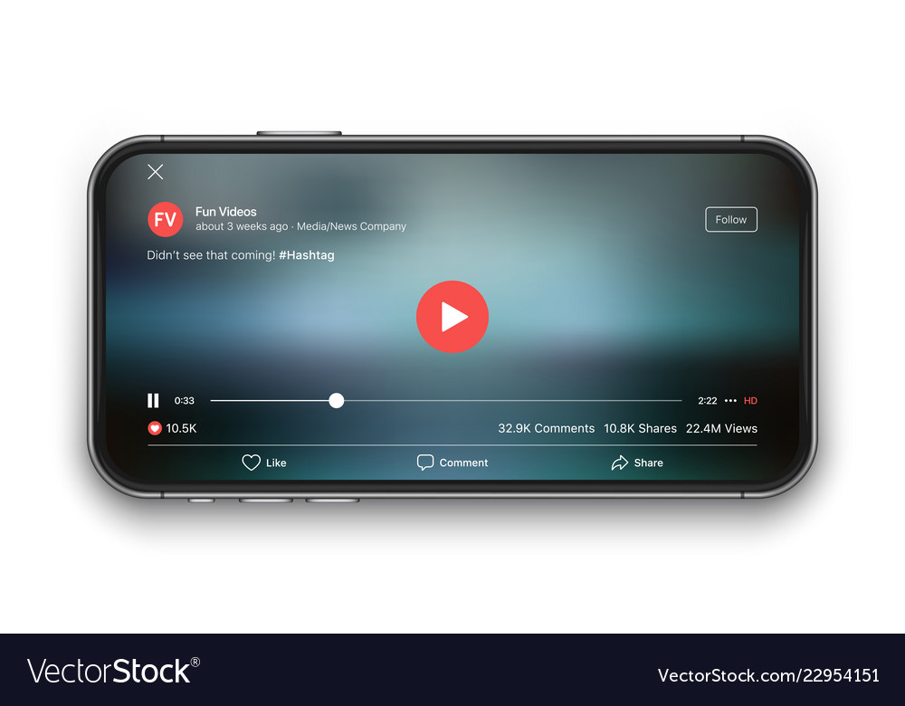 Mobile video player ui concept