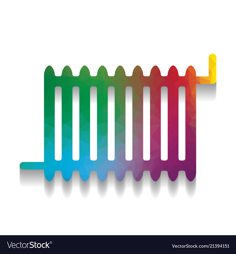 Radiator sign colorful icon with bright