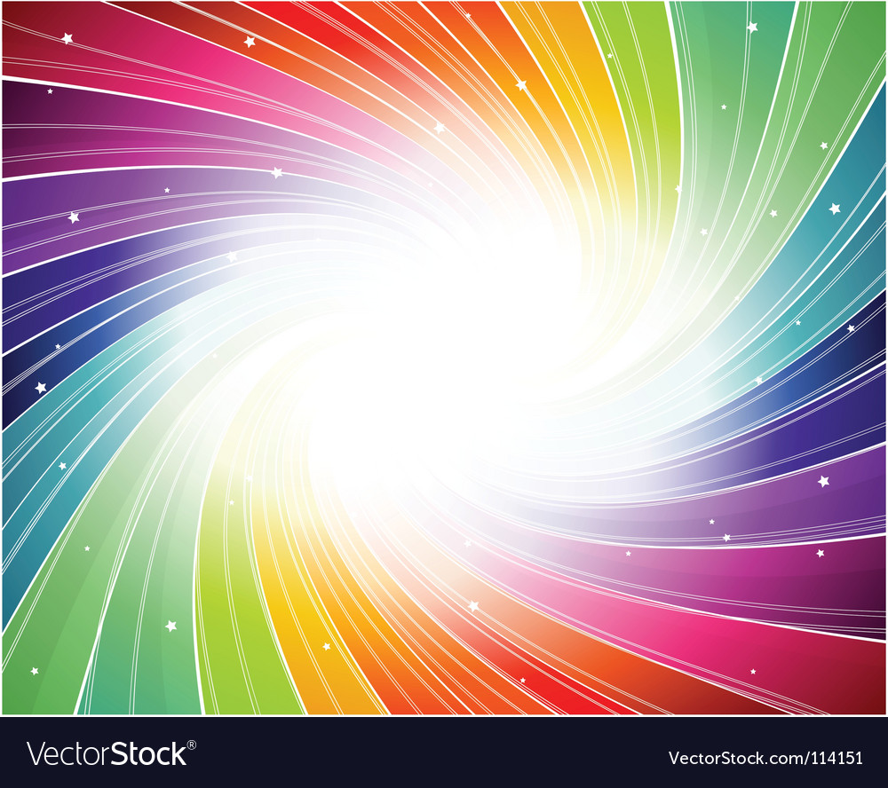 Rainbow spiral background