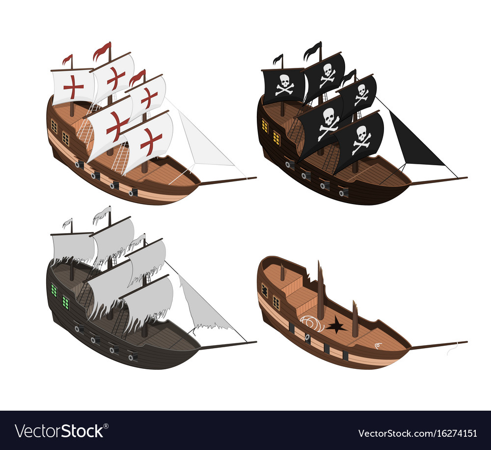 Set of sailers on a white background vector image