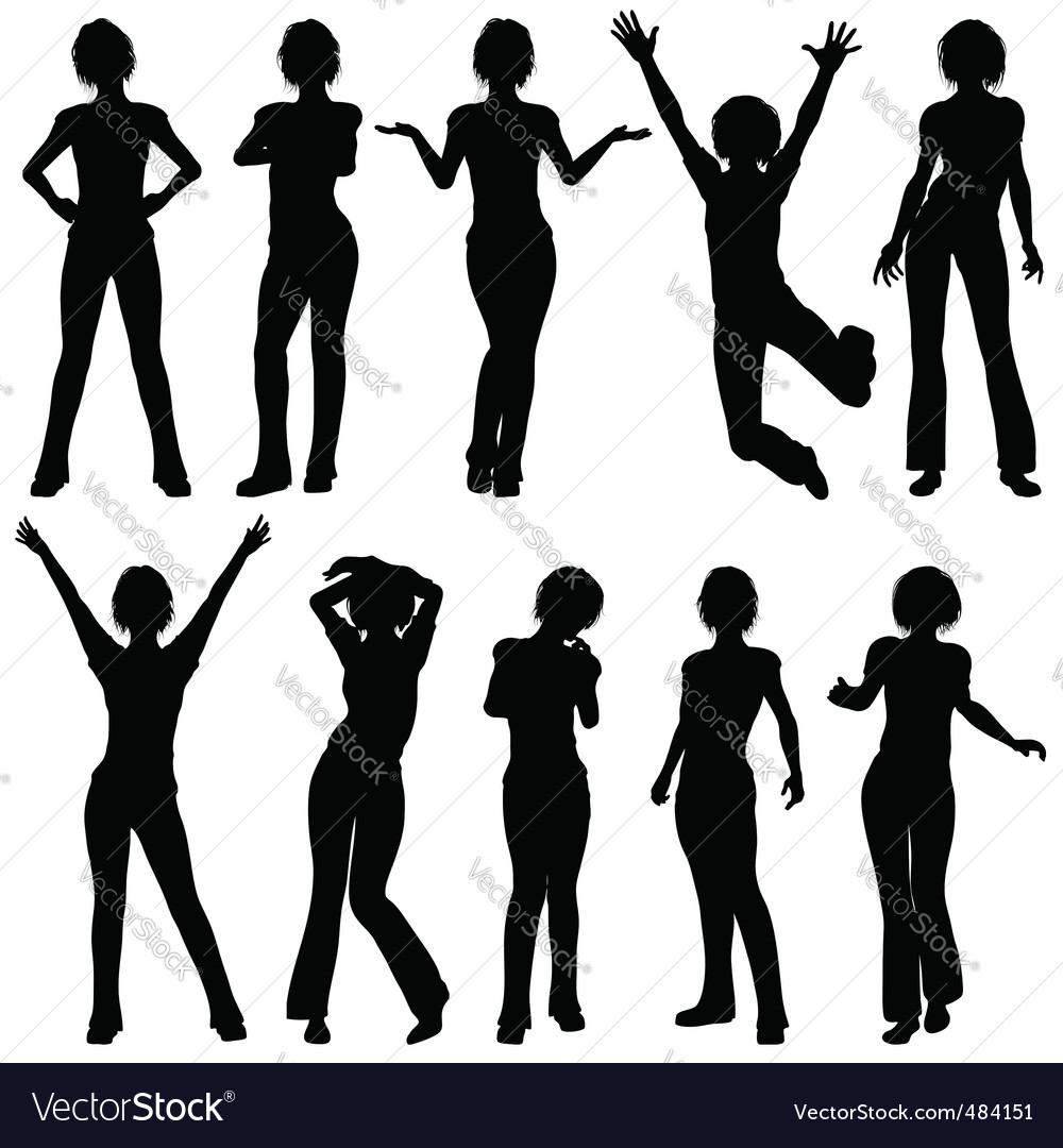 Silhouettes girl