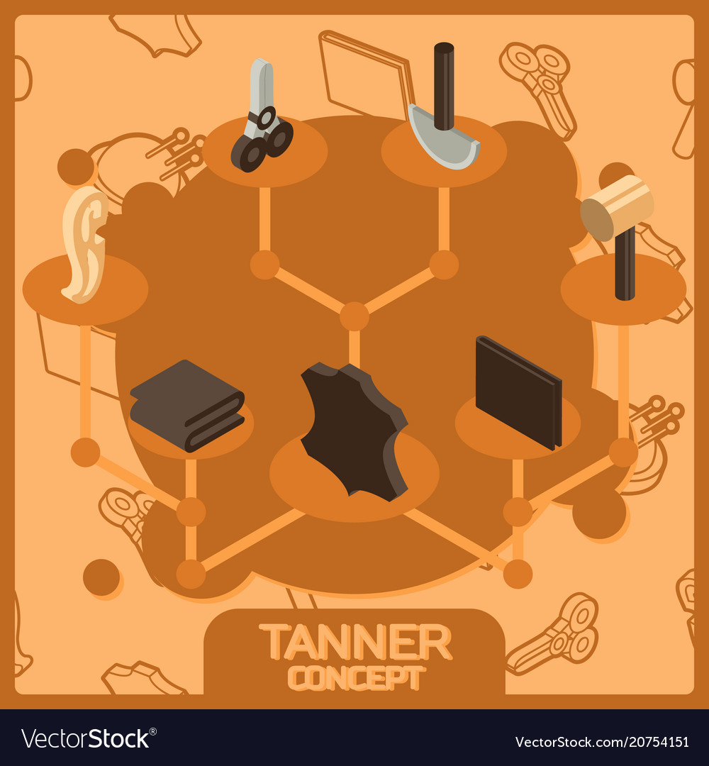 Tanner color concept isometric icons