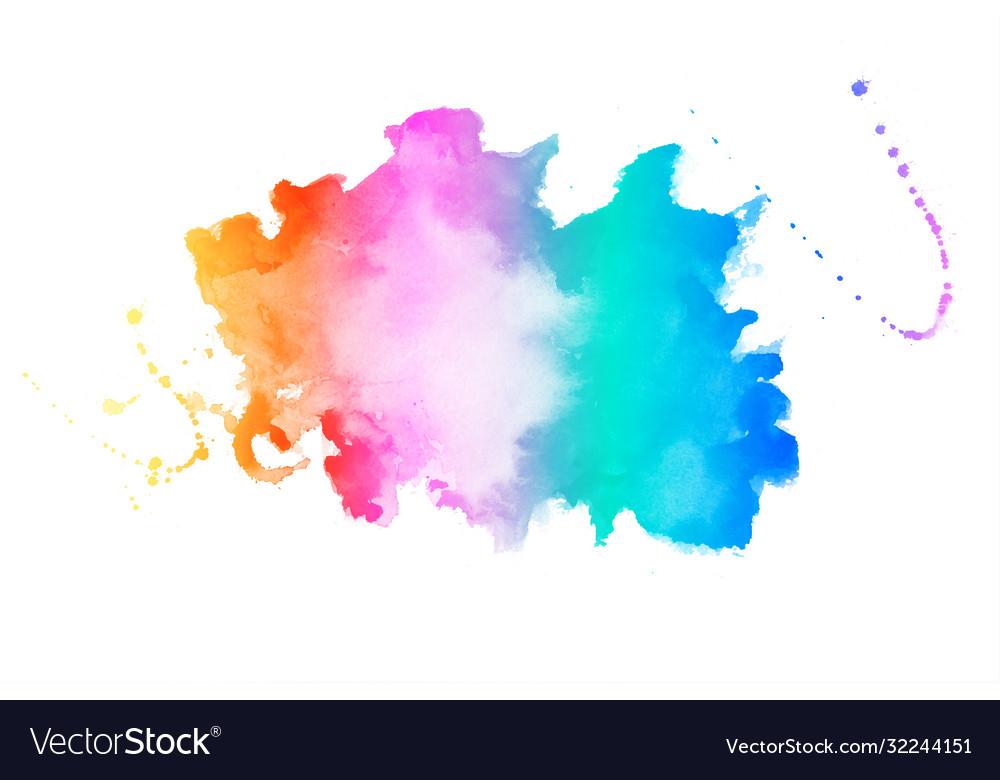 Vibrant colors watercolor stain texture