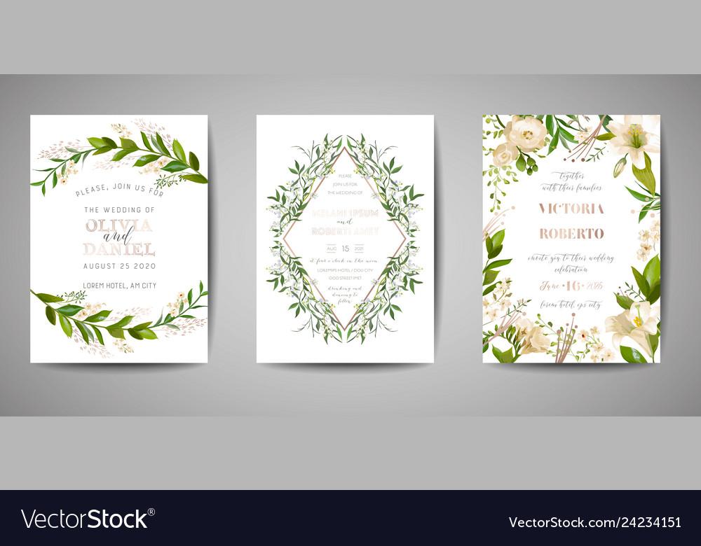 Wedding invitation floral invite rsvp card design