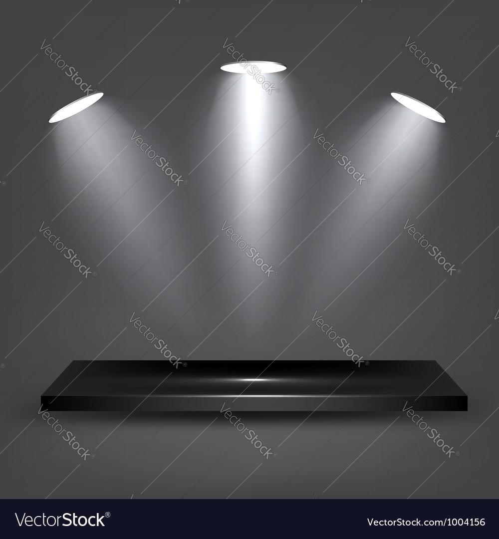 Black Shelf vector image