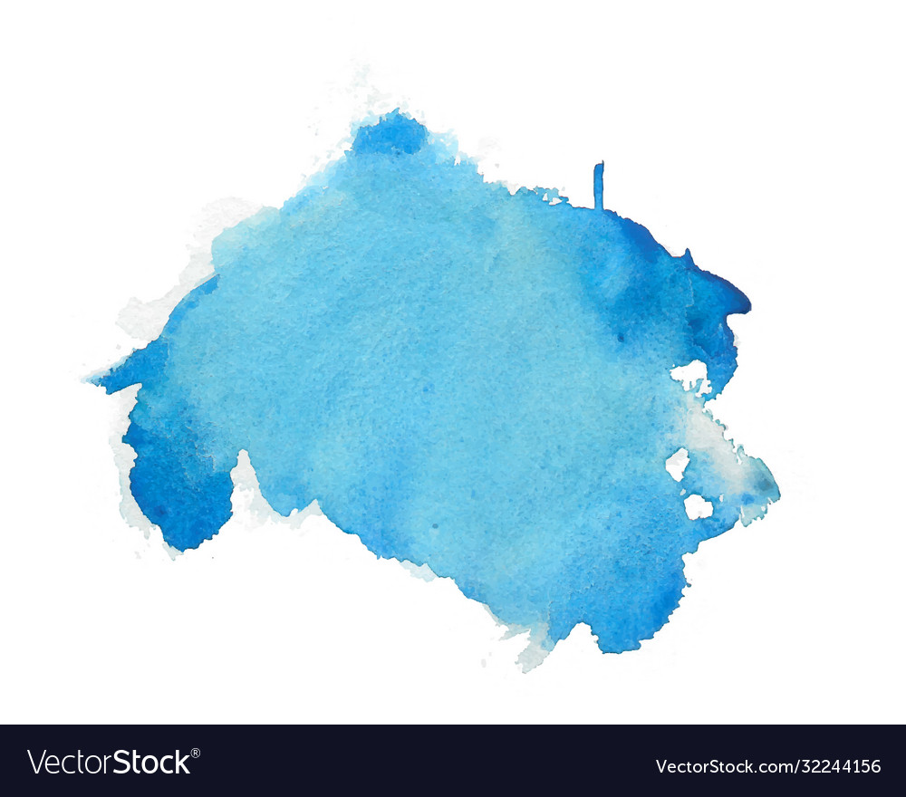Blue watercolor abstract stain texture background vector
