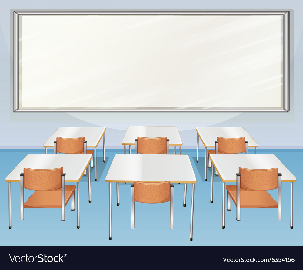 Classroom full of chairs and tables
