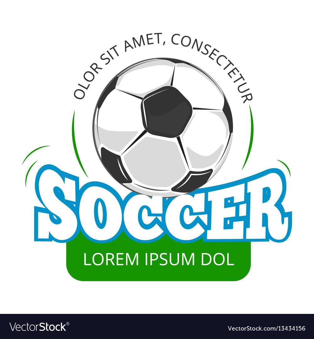 Football soccer club logo badge template