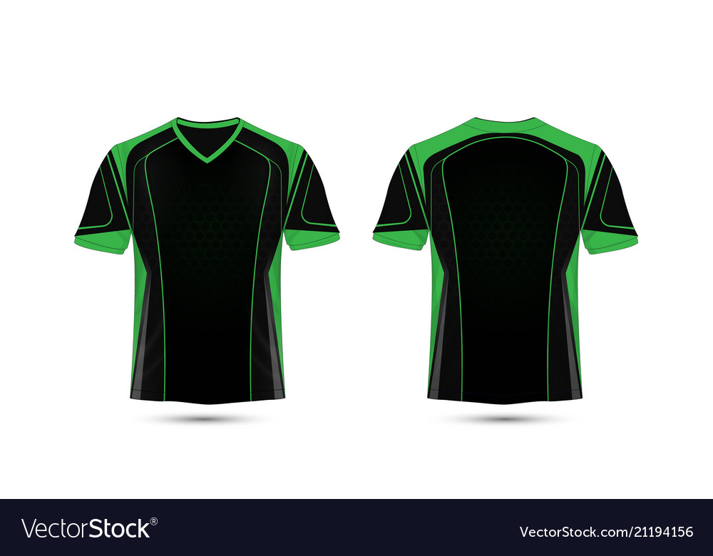 6e3522733d91 Green and black layout e-sport t-shirt design Vector Image