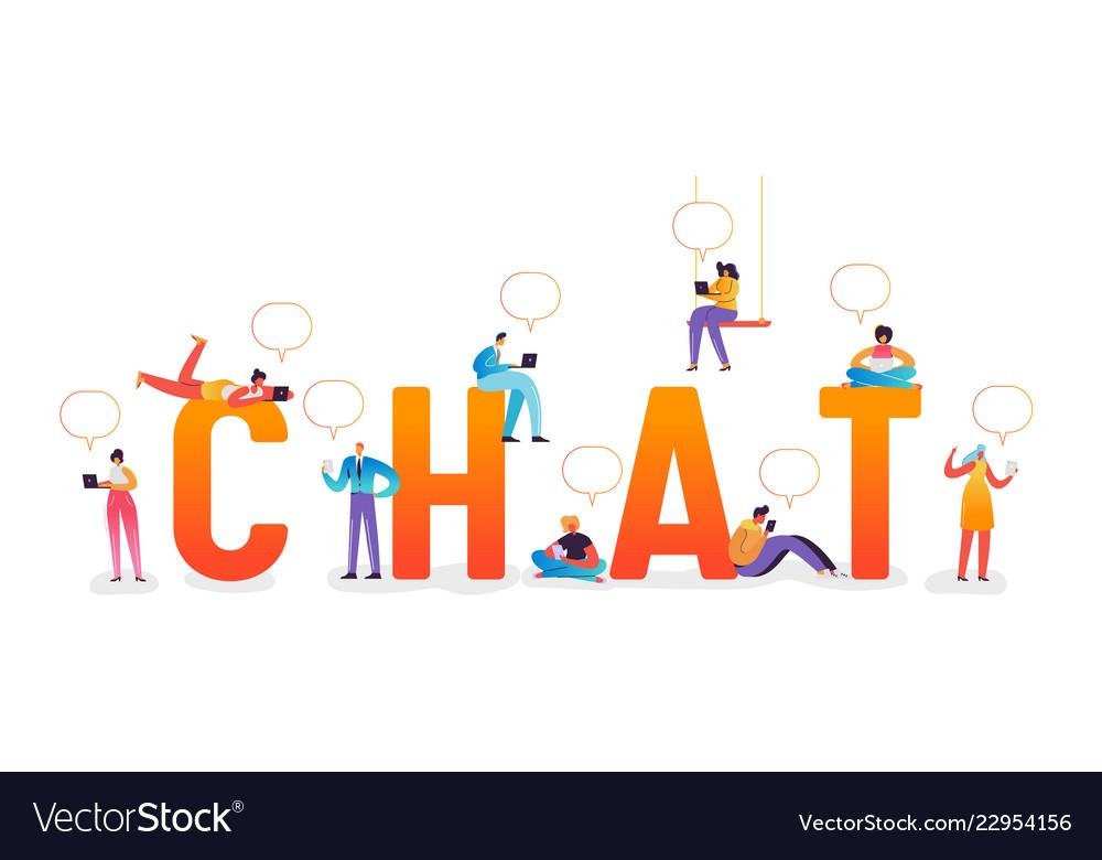 Social media chat concept social networks