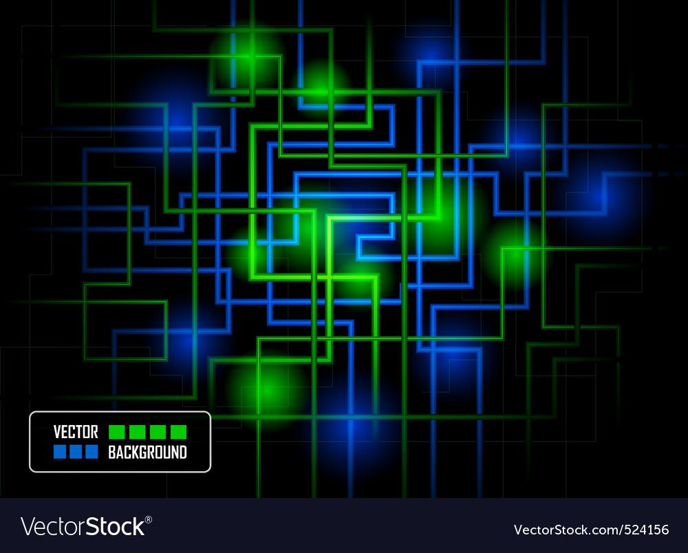 Vector hitech concept against dark background