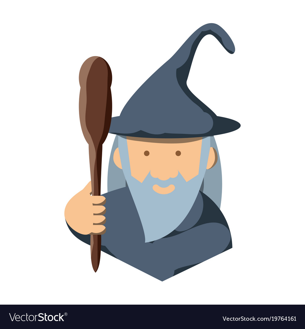 Cartoon Wizard Icon Royalty Free Vector Image Vectorstock