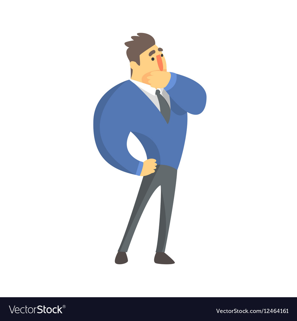 Doubtful Businessman Top Manager In A Suit Office vector image