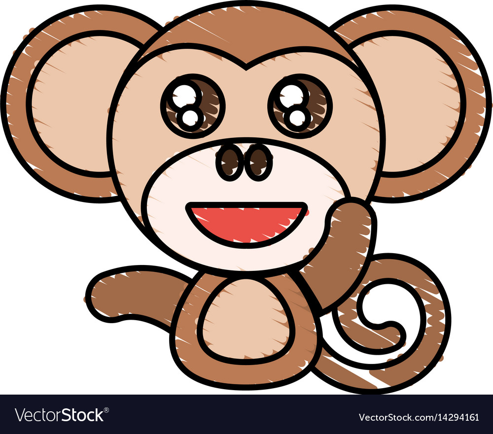 Draw monkey animal comic