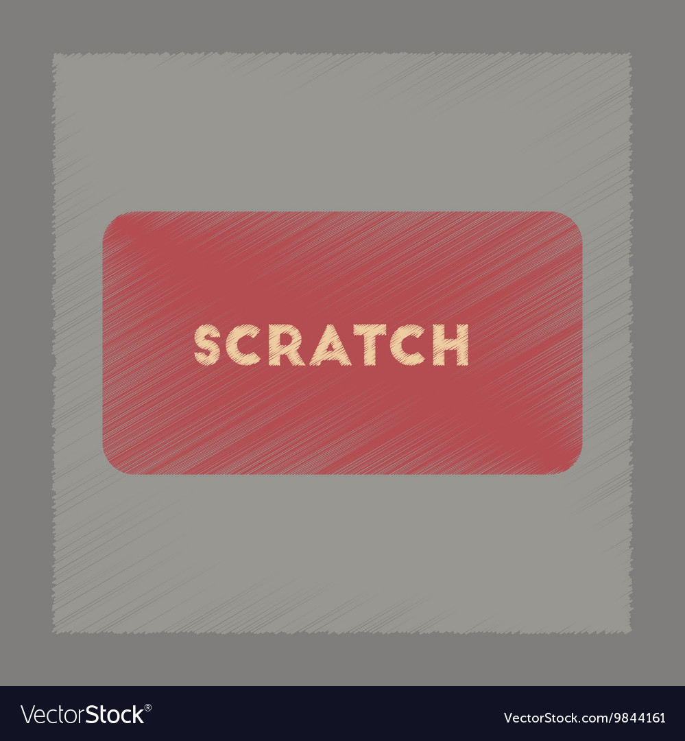 Flat shading style icon scratch card vector image