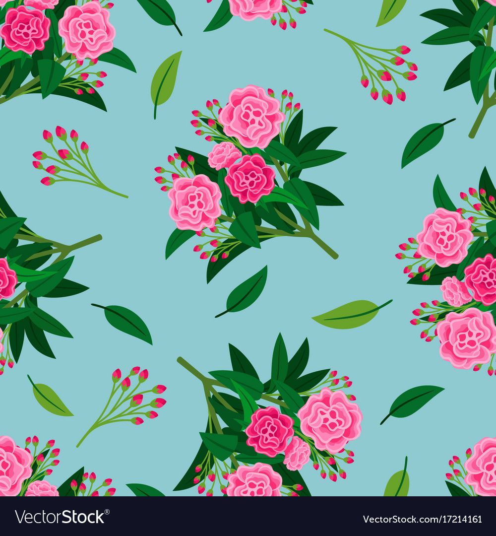 Floral pattern with pink peony