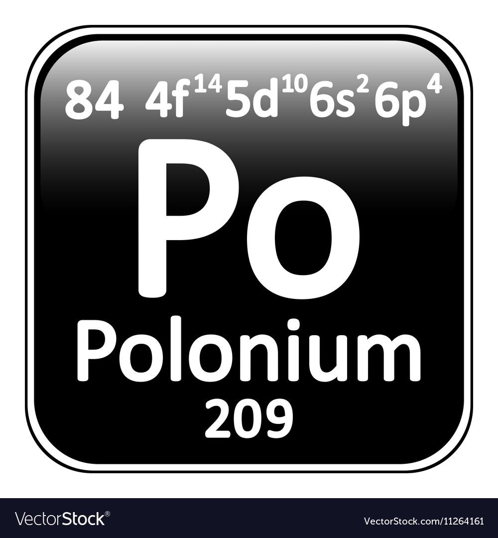 Periodic table element polonium icon vector image