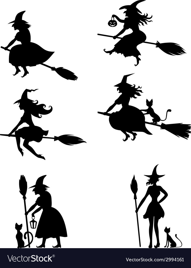 Witch set vector image