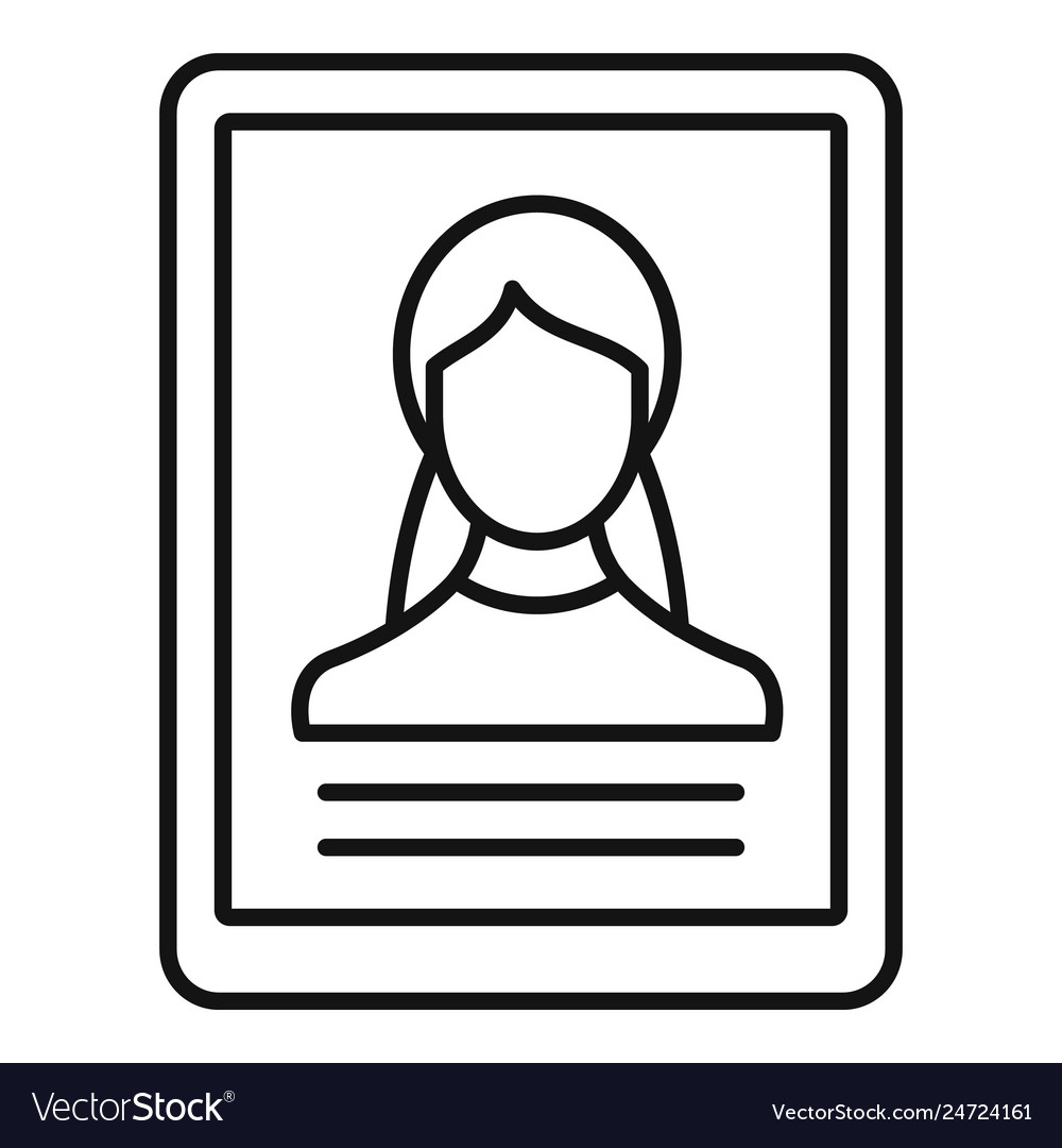 Woman online learning icon outline style