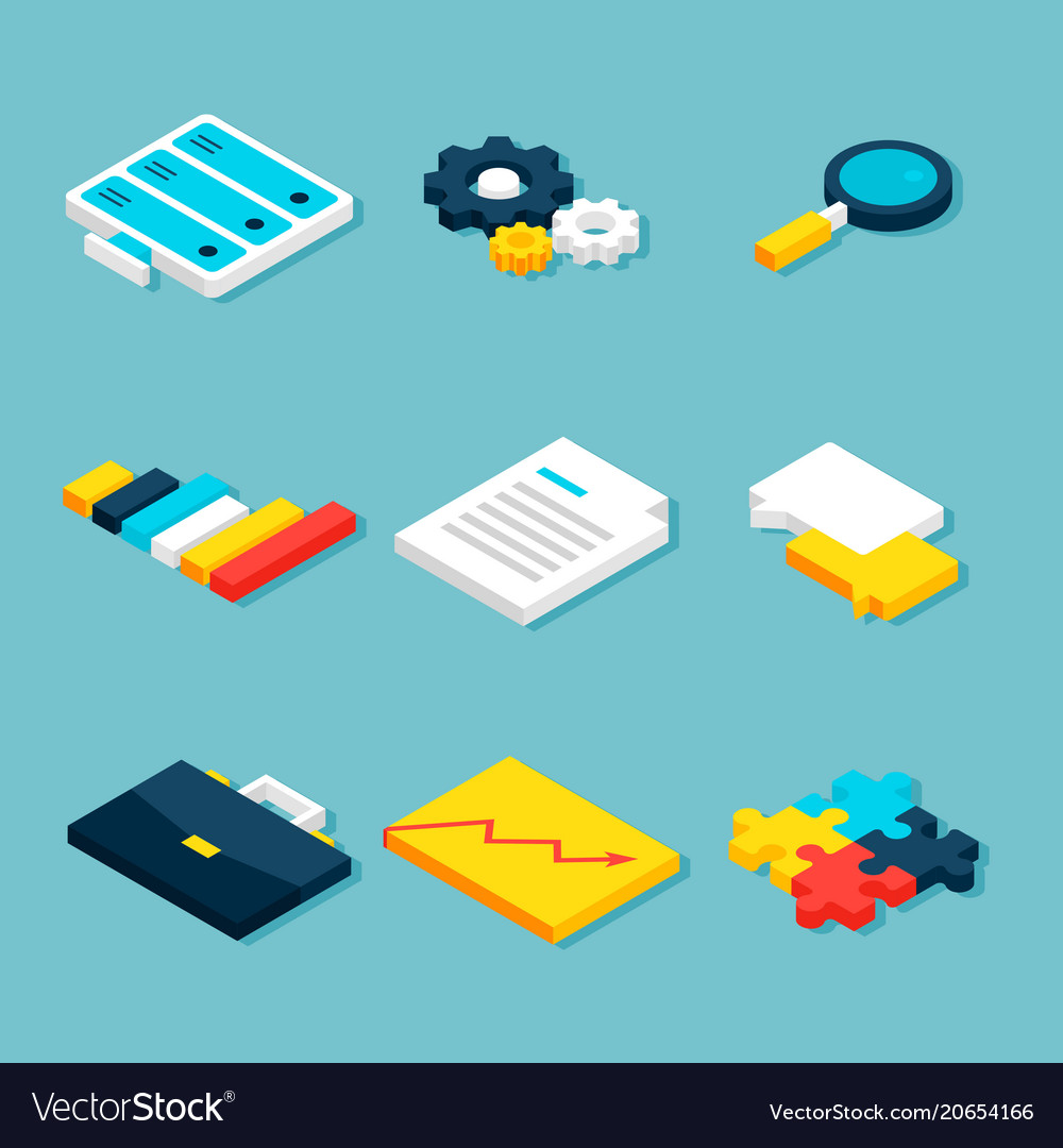Big data analytics isometric objects