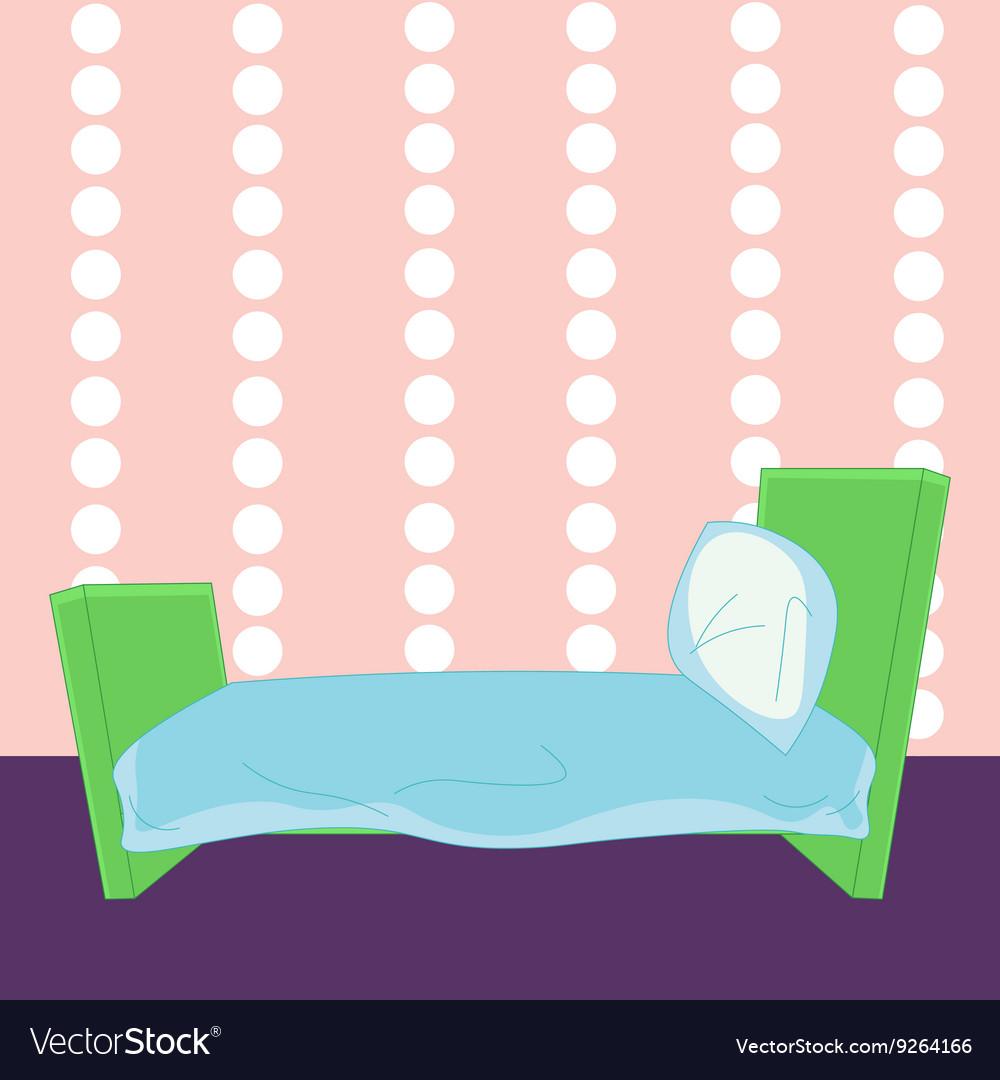 Children cartoon bed in