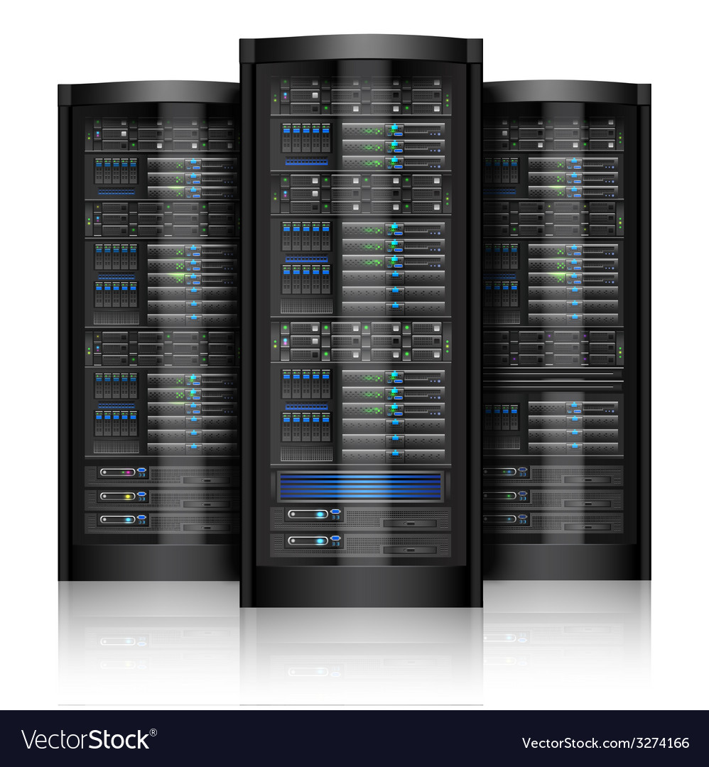 Network servers isolated vector image