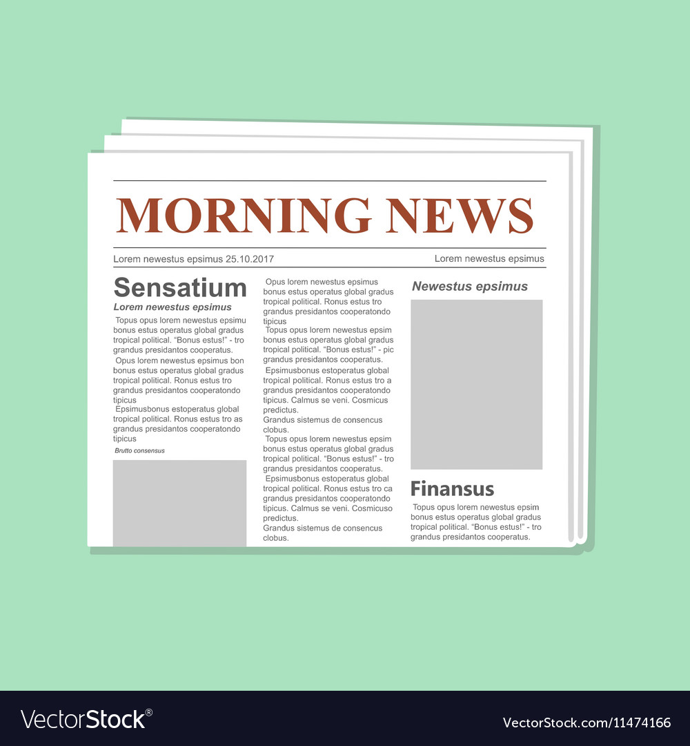 newspaper journal template royalty free vector image