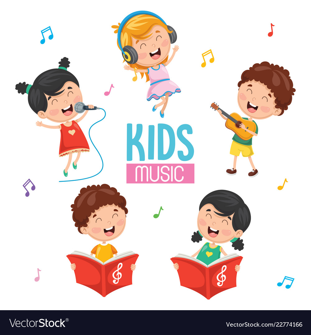 music vector playing royalty vectorstock