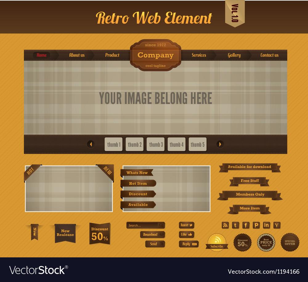 Retro web element 1
