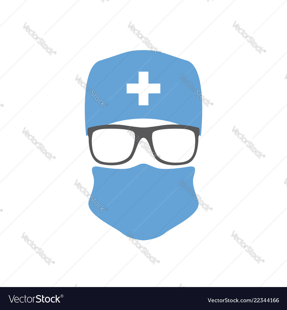 And Glasses Icon Surgeon Doctor Hat In Mask