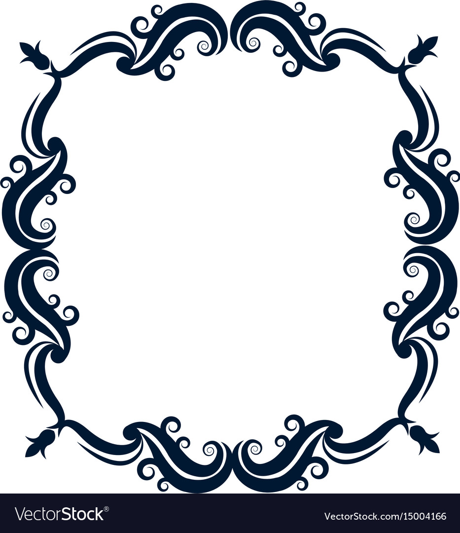 vintage ornate wreath and scroll banner royalty free vector rh vectorstock com ornate victorian style furniture ornate victorian hair combs