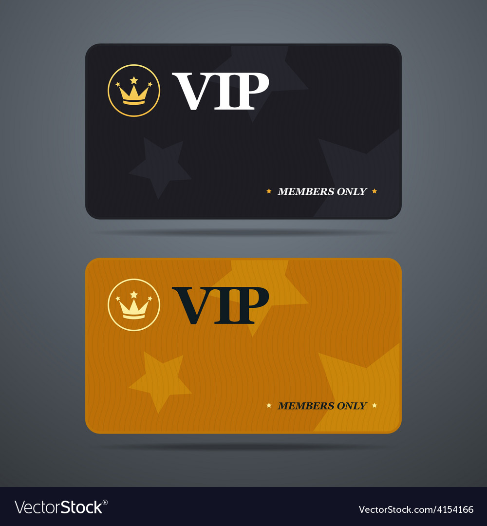 Vip card template with logo and abstract vector image maxwellsz