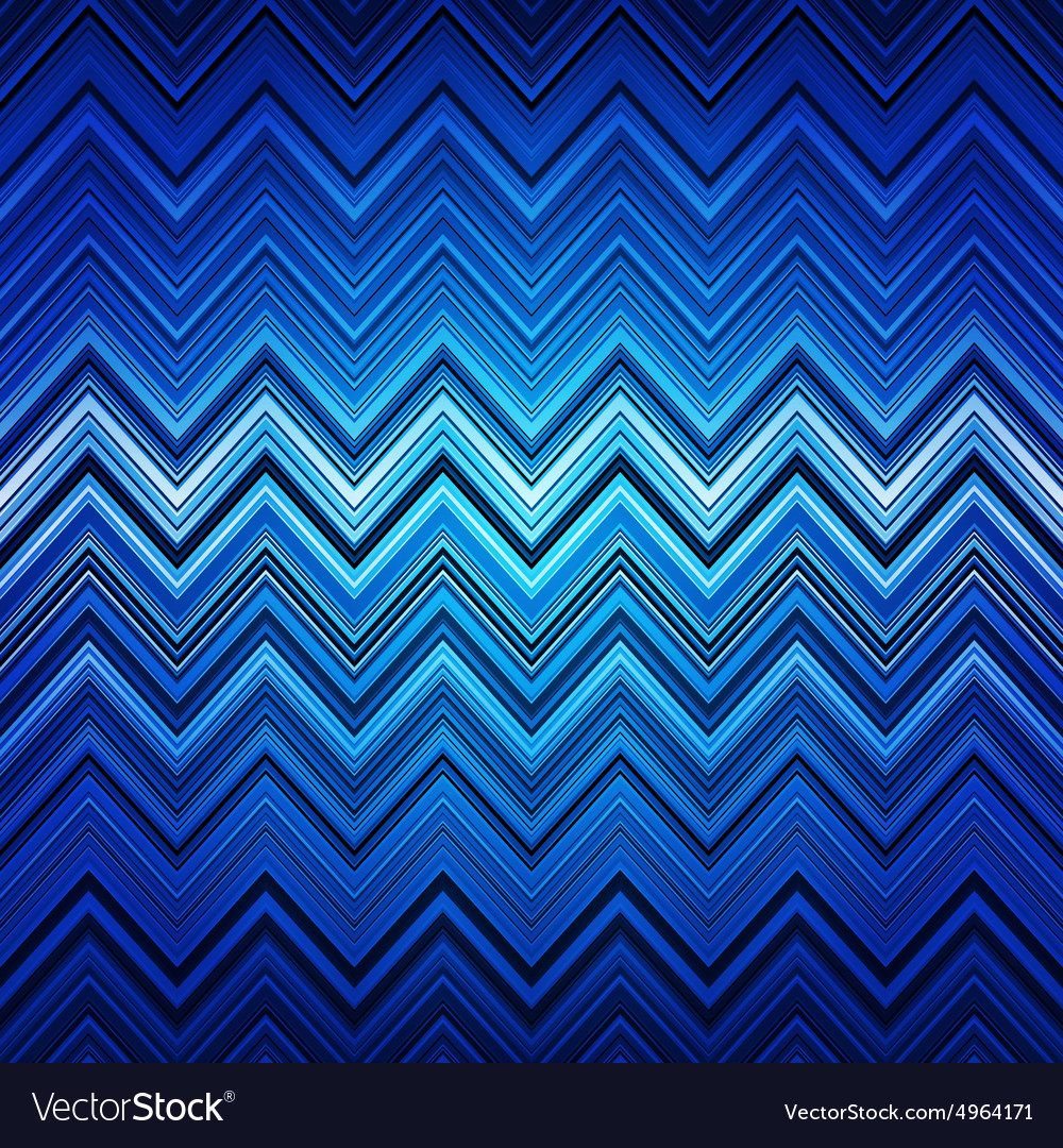 Abstract Blue White And Black Zig Zag Warped