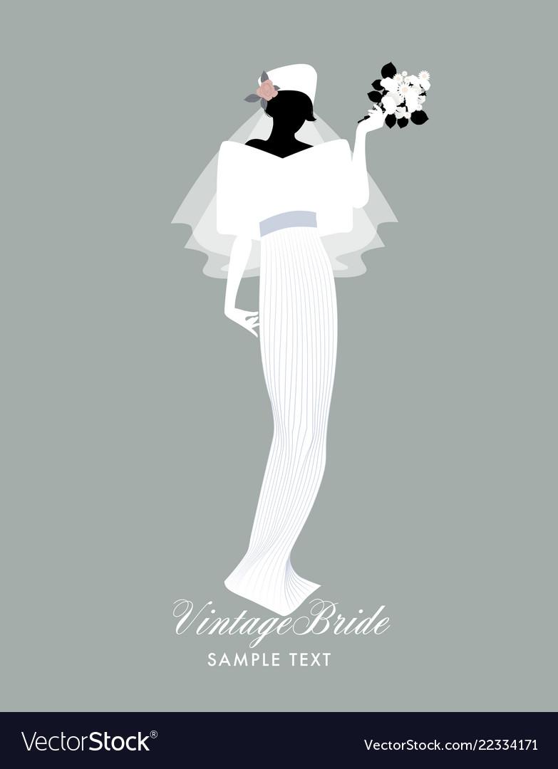 Elegant bride dressed in vintage style wedding