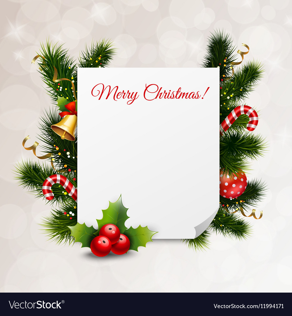 Merry Christmas Festive Background