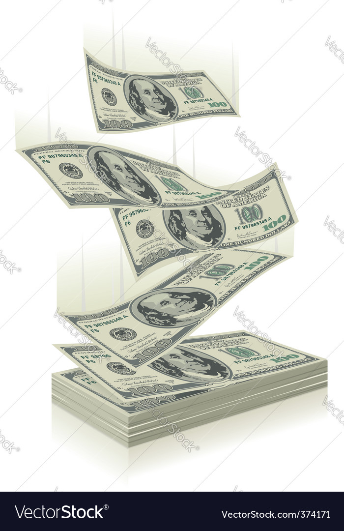 Money falling vector image