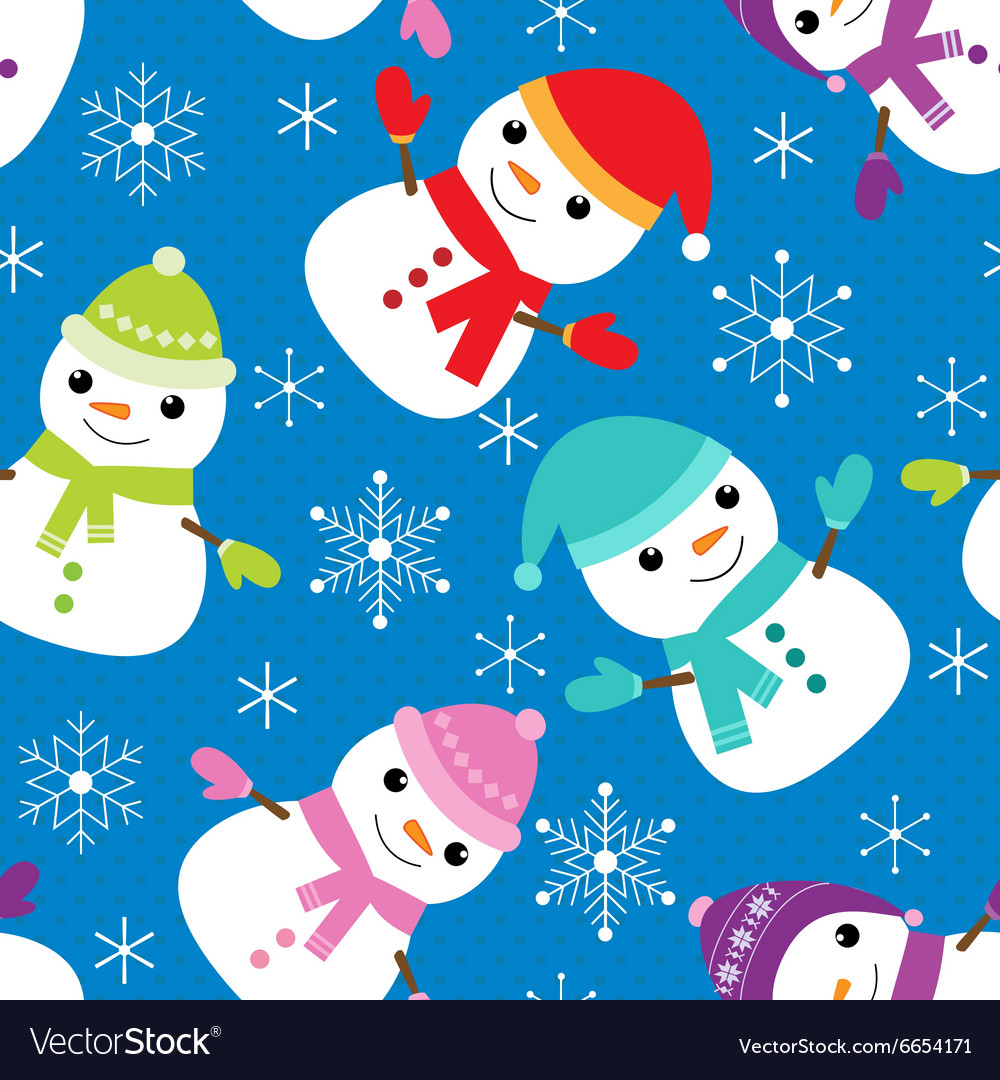 Pattern with snowmen