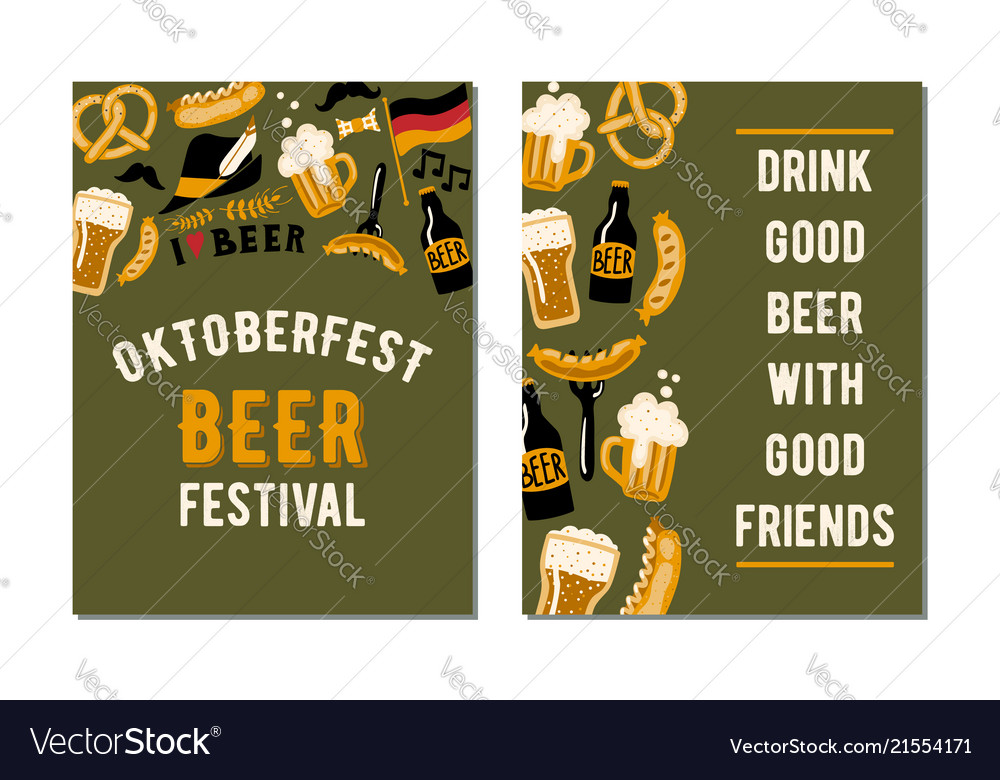 Set of 2 posters for the craft beer festival