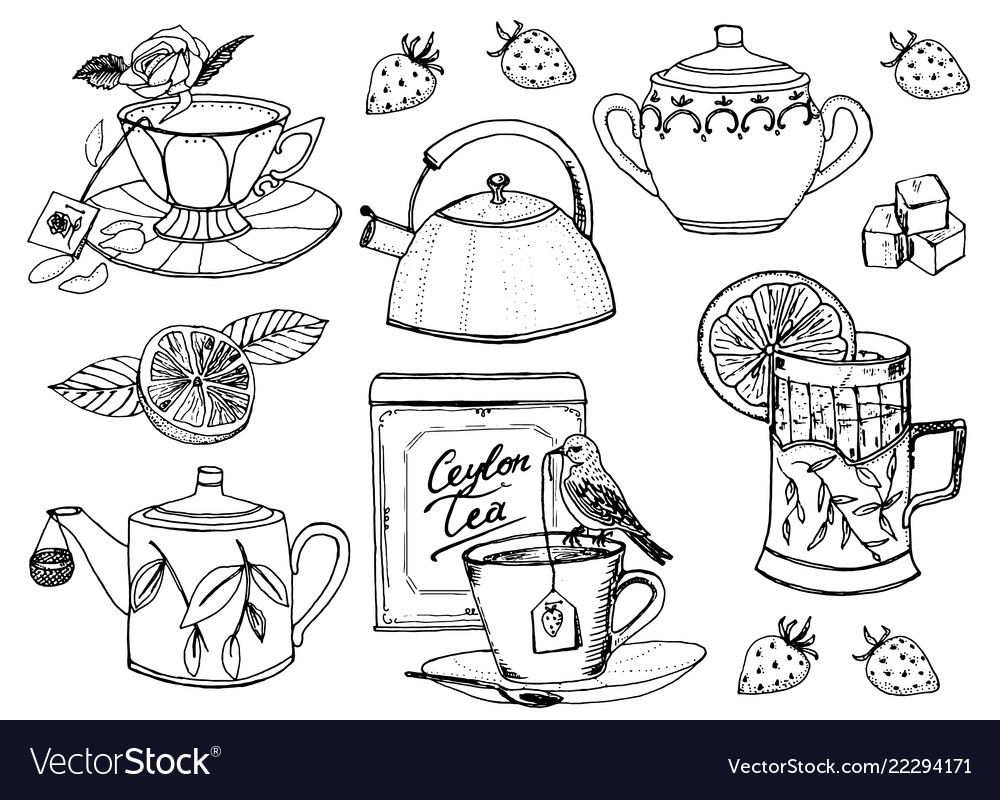 Tea time set of kettle natural organic product