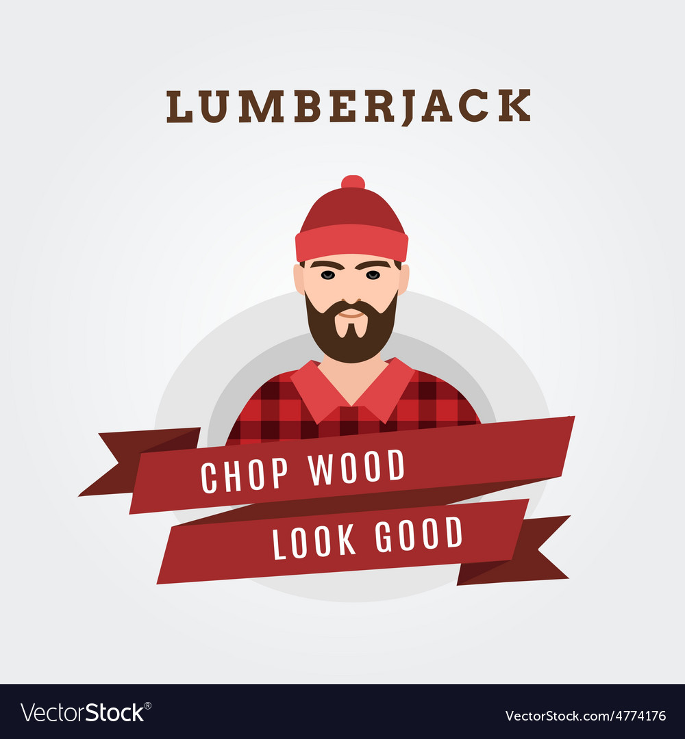 A lumberjack forester