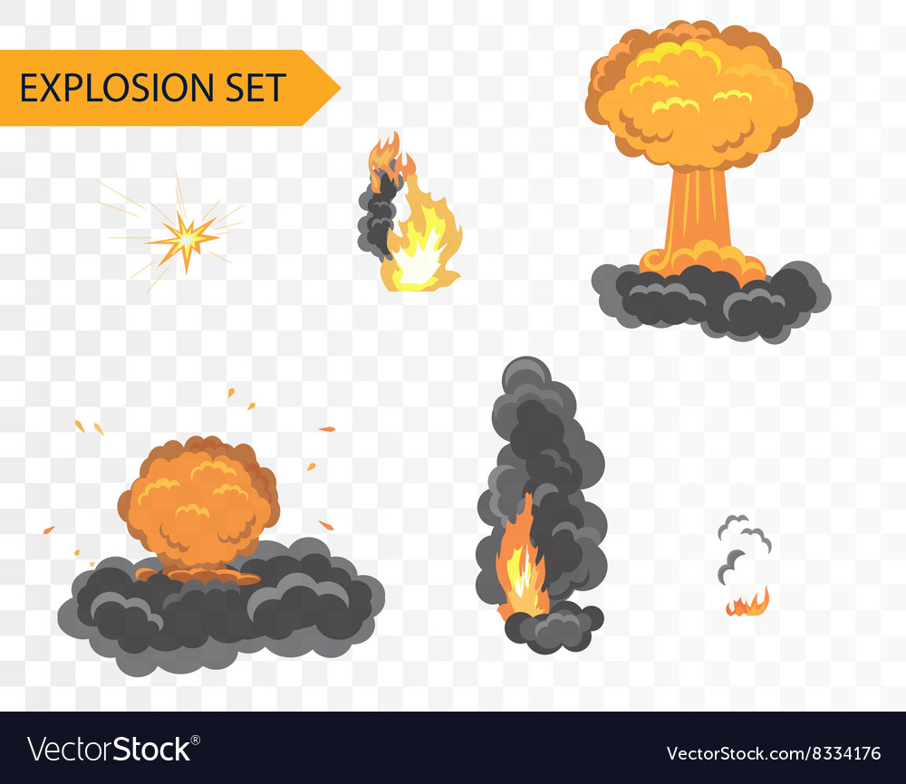 Explode animation effect cartoon explosion