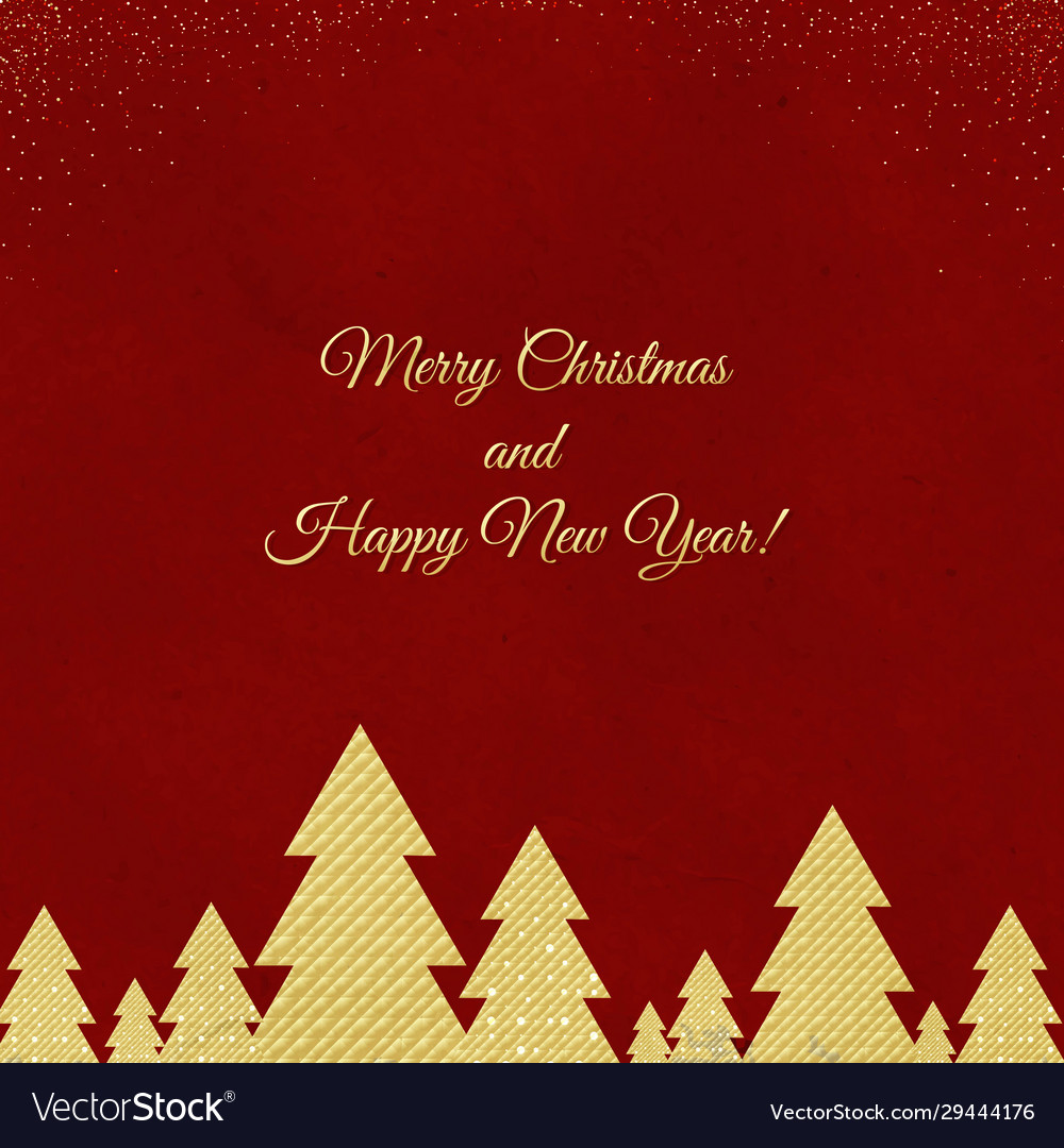Happy new year card merry christmas