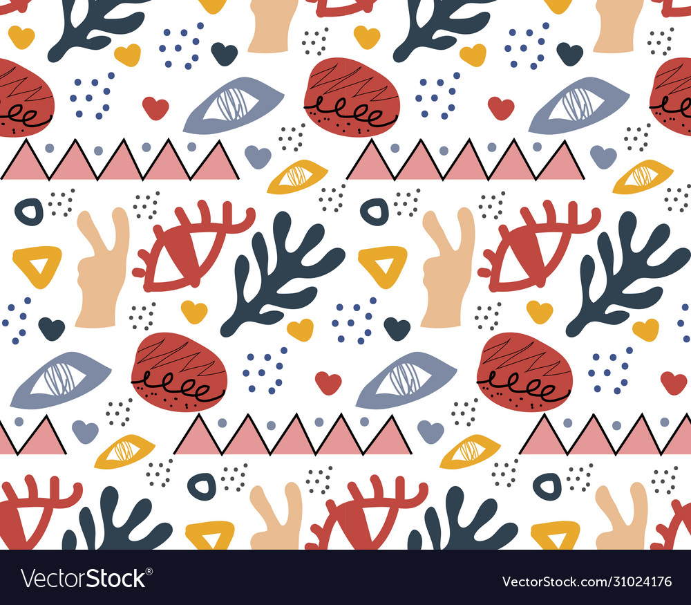 Stylish hand drawing doodle pattern abstract