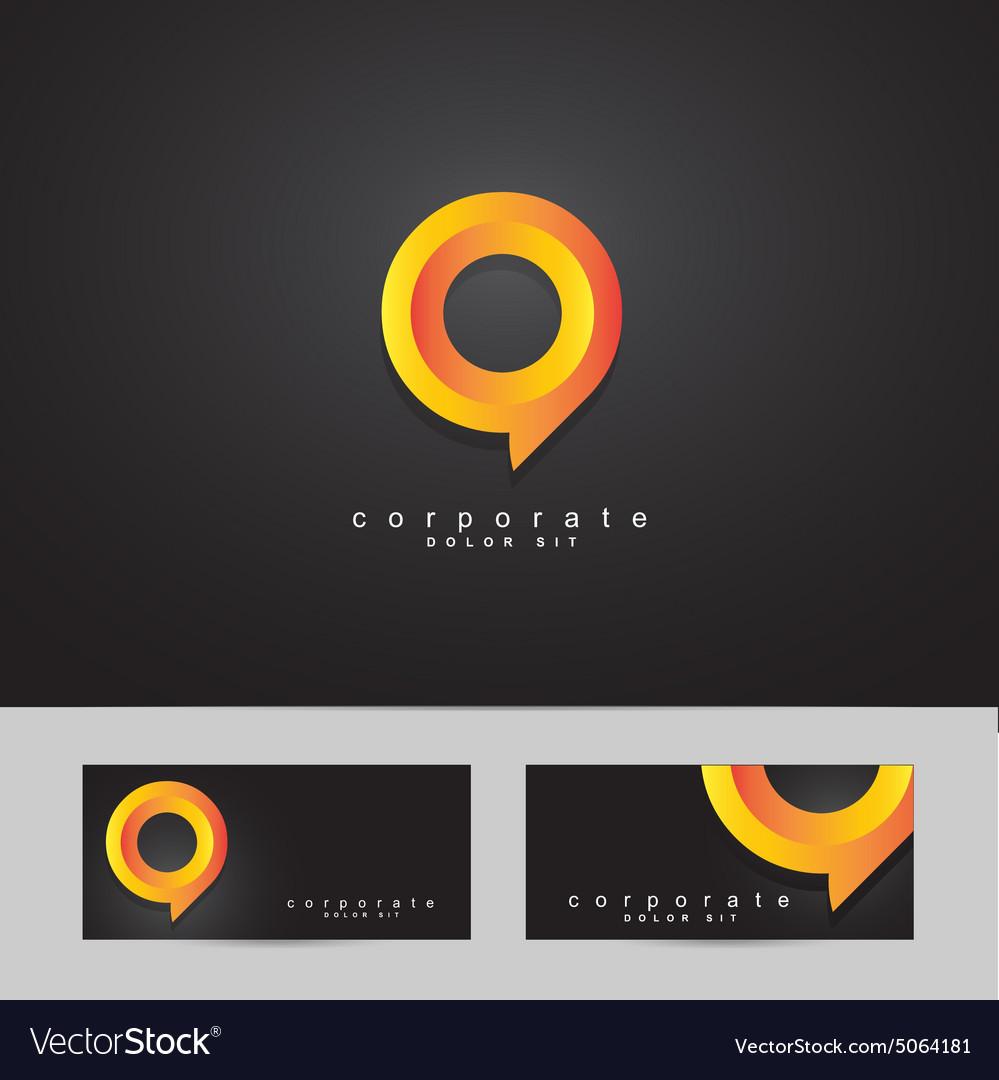 Abstract circle corporate logo vector image